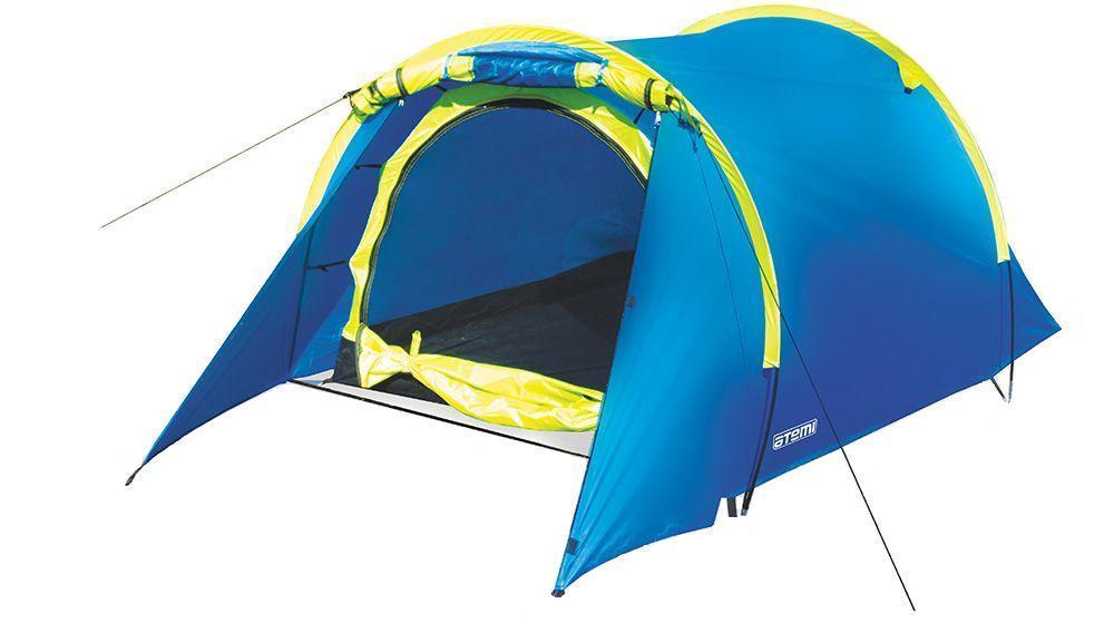 Палатка 3-х местная ATEMI TONGA3, цвет: голубой/желтый