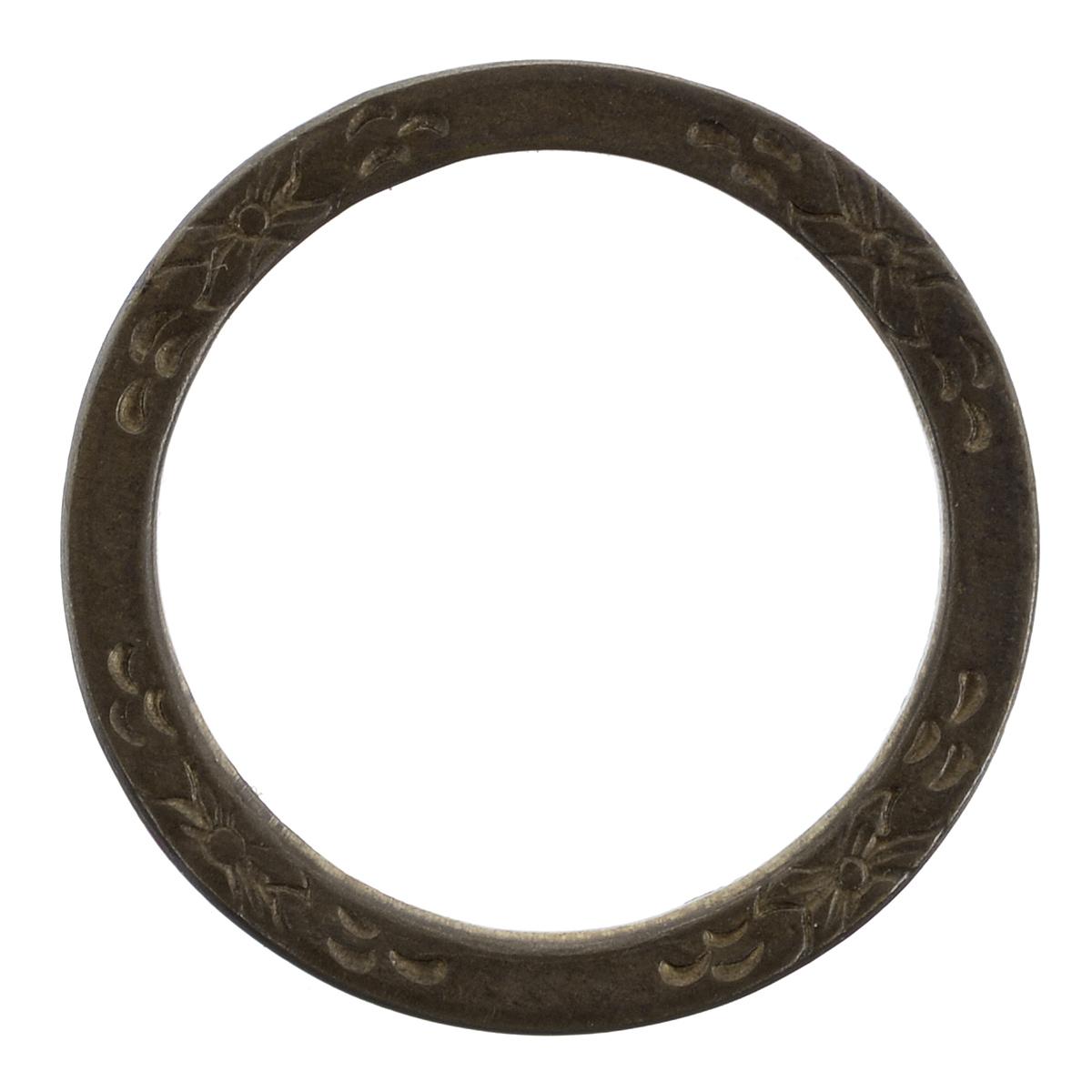 Декоративный элемент Vintaj Колечко бесконечный сад, диаметр 25 ммDR20RRДекоративный элемент Vintaj Колечко бесконечный сад изготовлен из металла в виде кольца и предназначен для декорирования в различных техниках. С их помощью вы сможете украсить альбом, одежду, подарок и другие предметы ручной работы. Скрапбукинг - это хобби, которое способно приносить массу приятных эмоций не только человеку, который этим занимается, но и его близким, друзьям, родным. Это невероятно увлекательное занятие, которое поможет вам сохранить наиболее памятные и яркие моменты вашей жизни, а также интересно оформить интерьер дома. Диаметр элемента: 25 мм.