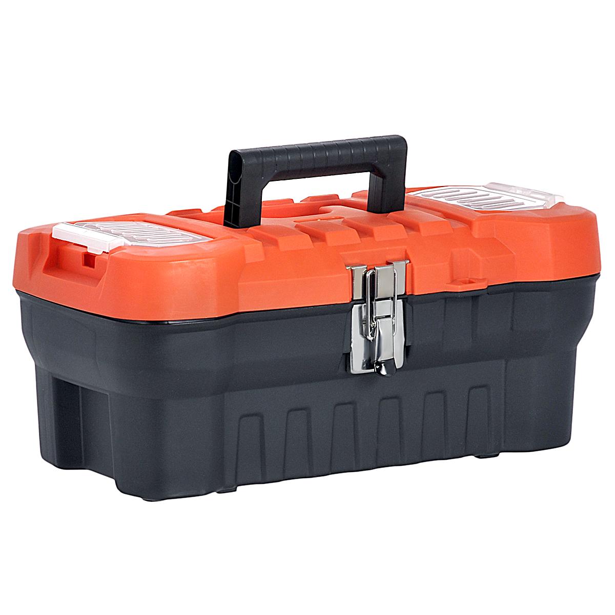 """Ящик для инструментов Blocker """"Expert 16"""", с органайзером, цвет: черный, оранжевый, 41 х 21 х 17,5 см ПЦ3730"""