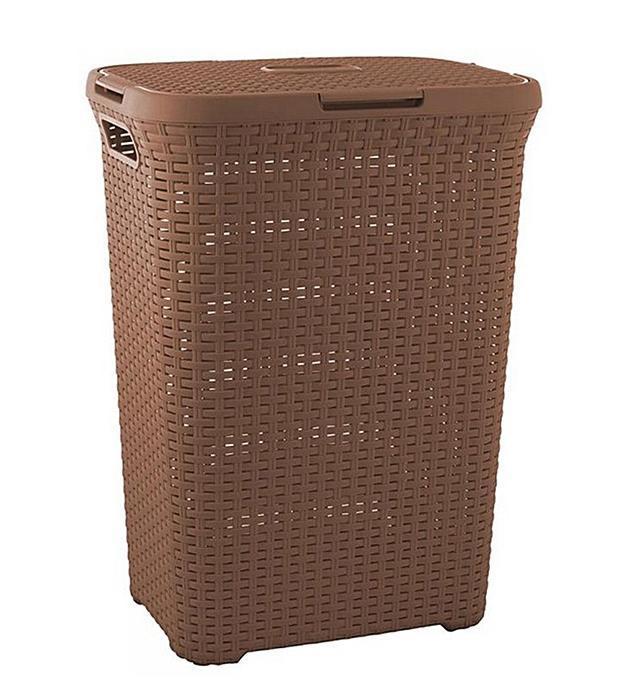 Корзина для белья РАТТАН, цвет: коричневый, 60 л00707-213-01