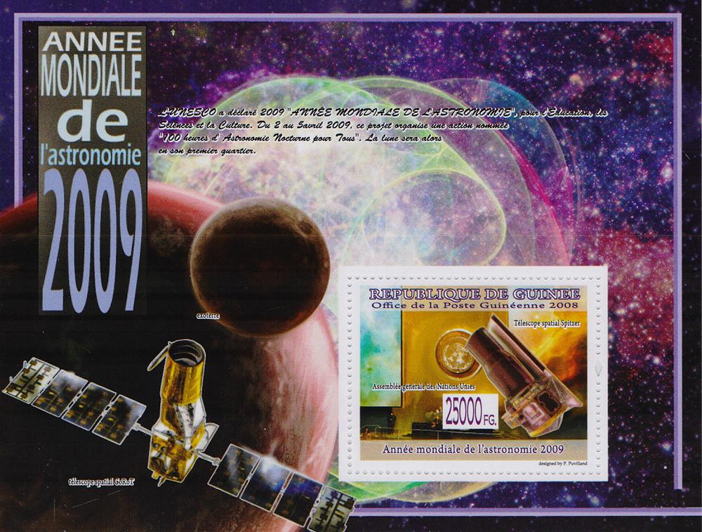Почтовый блок Всемирный день астрономии. Республика Гвинея, 2008 год691503Почтовый блок Всемирный день астрономии. Республика Гвинея, 2008 год. Размер блока: 10.8 х 14.2 см. Размер марки: 4 х 5 см. Сохранность хорошая.
