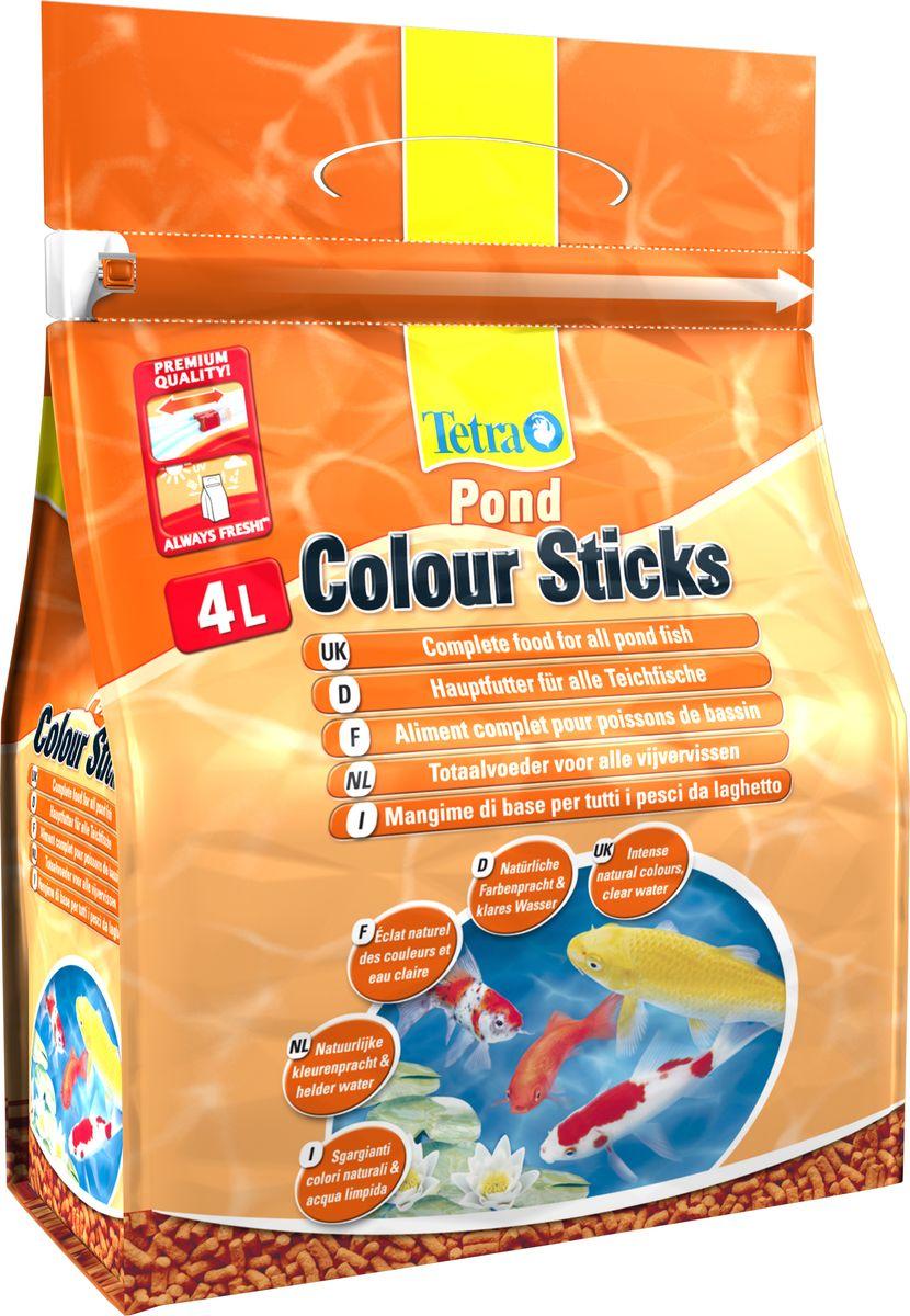 Корм сухой Tetra Pond. Color Sticks для всех видов прудовых рыб, палочки, 4 л (750 г)170148Сухой корм Tetra Pond. Color Sticks - специальный корм, предназначенный для кормления прудовых рыб. Имеет форму палочек. Корм способствует проявлению естественного окраса рыб во всем его великолепии. В состав корма входят специально отобранные естественные усилители цвета каротиноиды, которые позволяют увеличить интенсивность красного, оранжевого и желтого цветов. Результат кормления заметен уже через несколько недель регулярного питания. Плавающий корм хорошо усваивается питомцами. Продукт содержит естественные усилители окраски, балластные вещества, витамины, микроэлементы. Состав: зерновые культуры, экстракты растительного белка, растительные продукты, рыба и побочные рыбные продукты, дрожжи, минеральные вещества. Товар сертифицирован.