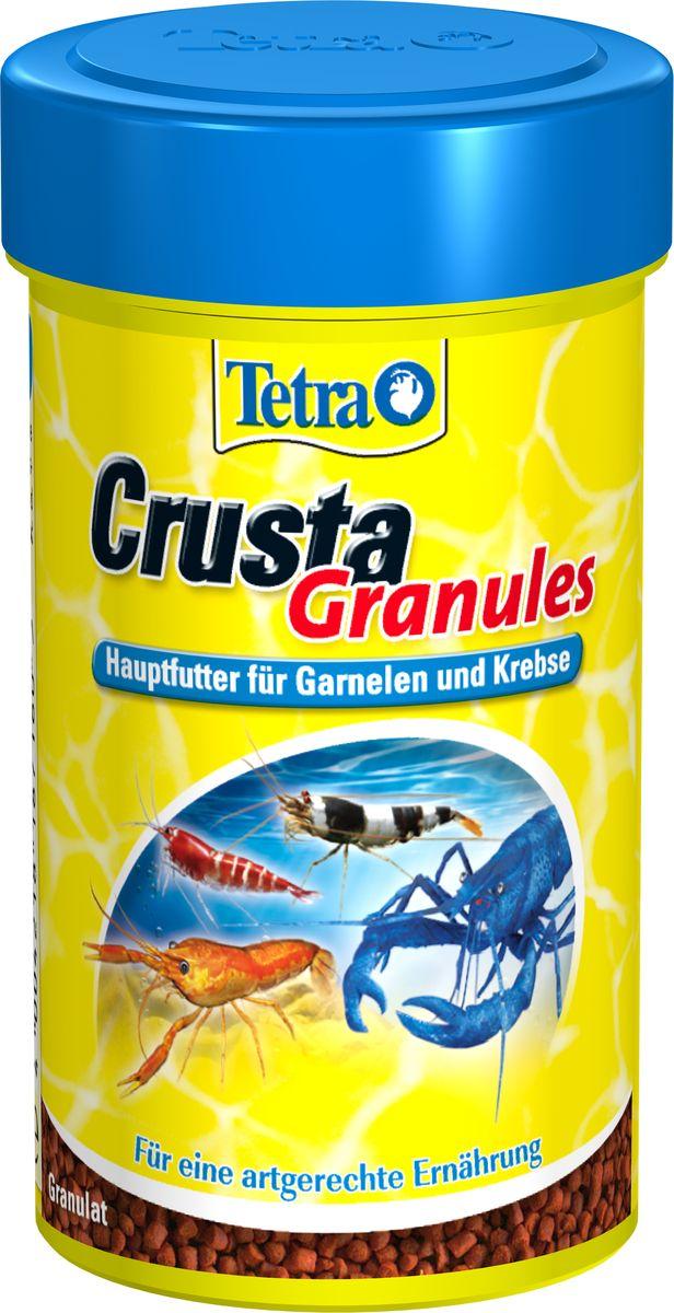 Корм Tetra Crusta Granules для раков, креветок и крабов, в гранулах, 100 мл187160Tetra Crusta Granules - полноценный корм для креветок и раков. Тонущие в воде гранулы корма содержат питательные каротиноиды, которые и обеспечивают сбалансированное питание вашим питомцам. Уникальная формула корма не загрязняет водоем и соответствует всем разработанным на сегодняшний день кормовым предпочтениям. Оптимальное содержание минералов и протеинов гарантирует полноценное питание для поддержания здоровья. Вес упаковки 100 мл. Товар сертифицирован.