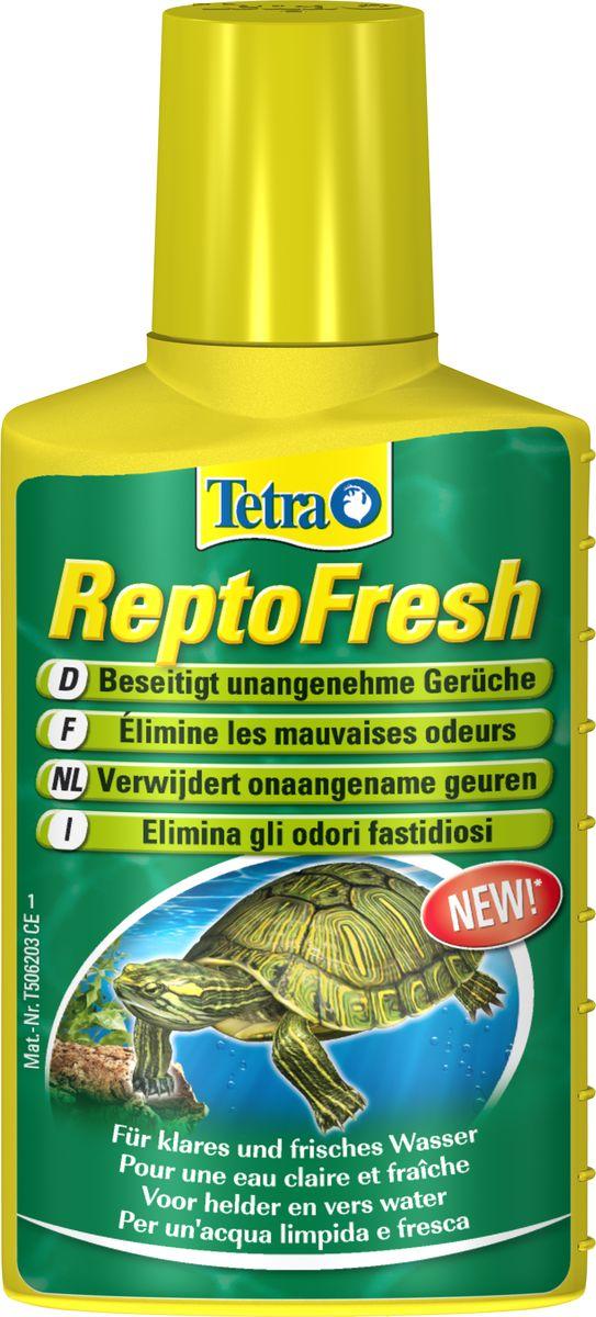 Средство для очистки воды в аквариуме с черепахами Tetra ReptoFresh, 100 мл195110Водяные черепахи и другие рептилии, главным образом живущие в воде, сильно загрязняют воду остатками корма и не переваренной пищи, что часто приводит к возникновению неприятного запаха не только в аквариуме/террариуме, но и в квартире. Появлению запаха способствует также высокая температура в террариуме. Средство ReptoFresh от компании Тетра устраняет неприятные запахи, делает воду чистой, ускоряет разложение отходов. Дезинфицирует, сокращает риск инфекций после царапин. Дозировка: 10 мл на 50 л воды 1 раз в неделю. Товар сертифицирован.
