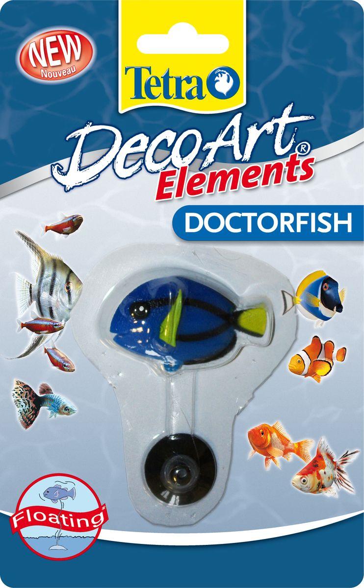 Искусственная плавающая рыбка Tetra Доктор204966Плавающее украшение, которые позволяет разнообразить ваш аквариум. Простая и быстрая установка. Элемент либо прикрепляется к стеклу с помощью присоски, либо размещается в гравии. Прозрачная нейлоновая нить создает впечатление, будто декоративный элемент слегка перемещается в воде вместе с рыбами. Не токсично: безопасно для пресной и соленой воды. Для аквариумов любых размеров: легкая регулируемая нейлоновая нить. Размер украшения: 5-7 см.