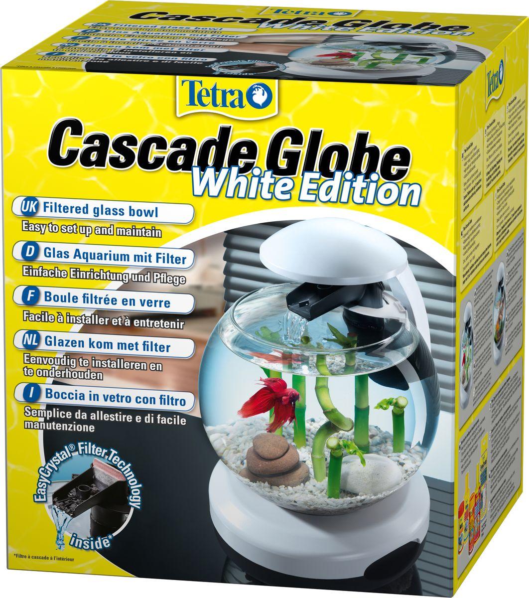 """Аквариумный комплекс Tetra """"Cascade Globe"""", цвет: белый, 6,8 л"""
