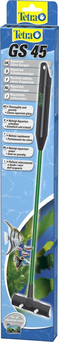 Скребок для аквариума Tetra GS 45 с лезвием728738Скребок Tetra GS 45 с лезвием предназначен для простой и эффективной очистки внутренних стеклянных поверхностей аквариума. Без усилий удаляет водоросли и другие частицы грязи с аквариумных стекол. Коррозийно-стойкие лезвия легко заменить. Предусмотрены сменные лезвия. При чистке угол прикосновения со стеклом оптимален. Стержень из небьющегося синтетического материала. Защищенная боковая кромка лезвия предотвращает порезы клеевых соединений в аквариуме. Белый цвет держателя лезвия позволяет оценить результат чистки стекла. Пригоден также для морского аквариума.