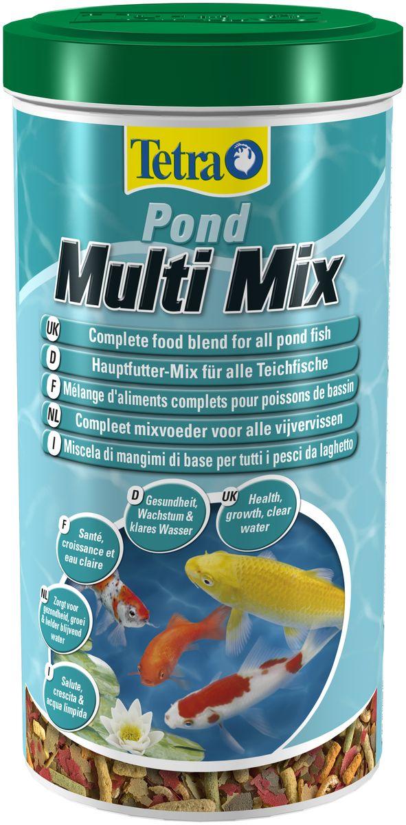 Корм Tetra Pond MultiMix, для всех видов прудовых рыб, 1 л748514Tetra Pond Multi Mix - пищевая смесь из нескольких сортов корма в виде палочек, хлопьев, таблеток и гаммаруса обеспечит натуральное питание всех прудовых рыб. Кормовые хлопья идеальны для кормления мелких и молодых рыбок. Кормовые палочки предназначены для рыб средних и крупных размеров верхнего слоя воды. Опускающиеся на дно таблетки являются идеальным кормом для донных рыб. Входящие в состав корма рачки гаммаруса являются природным лакомством для рыб. Высококачественный пластиковый пакет защищает корм от вредного воздействия солнечного света, воздуха и влажности. Это означает, что основные вещества корма защищены и корм остается свежим, обеспечивая самое лучшее кормление. Объем: 1 л. Товар сертифицирован.