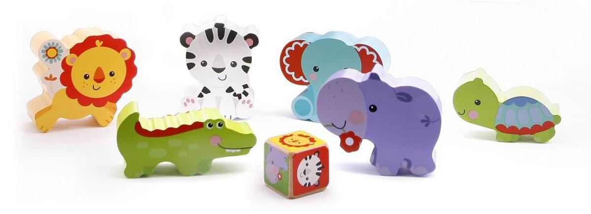 Fisher Price Развивающие игрушки ЖивотныеФП-2002Игрушки-кубики Fisher-Price Животные понравятся вашему малышу и не позволят ему скучать! Они выполнены из натурального дерева в виде слоника, бегемотика, крокодила, льва, тигренка и черепахи. Животные легко складываются в яркую пирамидку. Ребенок сможет собрать веселую пирамидку или играть с каждой зверюшкой отдельно. Игрушки Животные помогут малышу развить цветовое восприятие, мелкую моторику рук, координацию движений и логическое мышление.