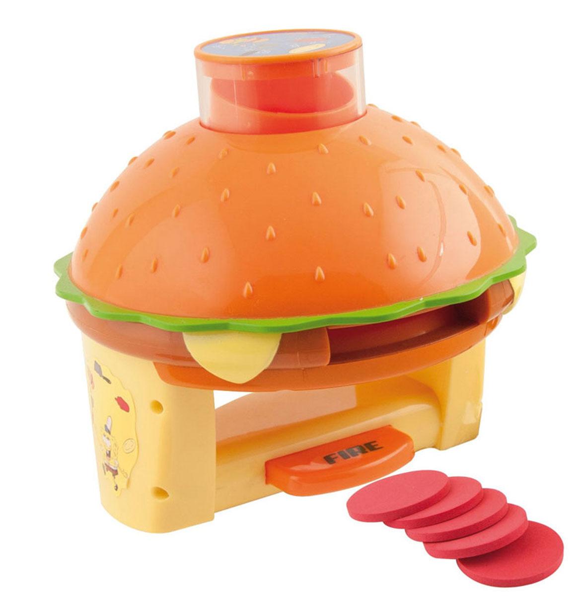 Дискострел SpongeBob, с дисками1106915Дискострел SpongeBob привлечет внимание вашего ребенка и не позволит ему скучать! Верхняя часть дискострела выполнена в виде гамбургера. Снизу расположена удобная рукоятка с кнопкой. Для игры необходимо сложить диски в специальный контейнер, затем вставить его в дискострел. При нажатии на кнопку, диск вылетает. Дискострел оформлен наклейкой с изображением Губки Боба. Ваш ребенок сможет упражняться в меткости, поражая различные мишени. Порадуйте его таким замечательным подарком! Характеристики: Размер дискострела: 15 см х 15 см х 15 см. Диаметр диска: 4 см. Размер упаковки: 25 см х 15,5 см х 29 см. Изготовитель: Китай.