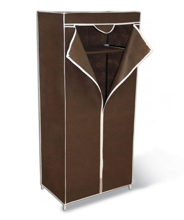 Мобильный шкаф с чехлом Sheffilton 2012темно-коричневый2012Компактное и практичное решение для хранения вещей; - Каркас стойки выполнен из металлических трубок и пластиковых соединительных крепежей; - Предусмотрена промежуточная полка из плотного нетканого материала; - Под полкой предусмотрена металлическая штанга для вешалок - плечиков; - Чехол защитит вашу одежду от пыли, грязи и влаги; - Максимальная нагрузка на штангу - 15кг; на полку - 17 кг; - Изделие полностью разборное и упаковано в плоскую тару;