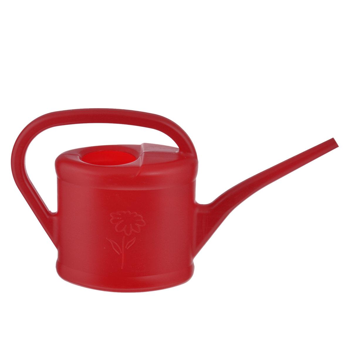Лейка садовая Калита, цвет: красный, 2 л67505Садовая лейка Калита представляет собой компактный инструмент для полива насаждений на приусадебном участке. Выполнена из пластика. Обладает легкой конструкцией для продолжительной и комфортной работы. Она пригодится как для работы в саду, там и для полива домашних цветов.