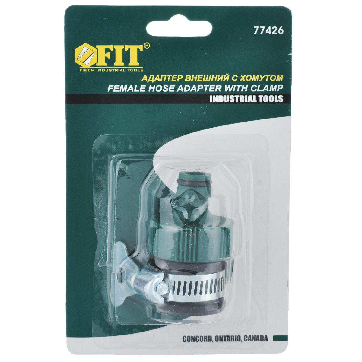 Адаптер внешний FIT, с хомутом, цвет: зеленый77426_зеленыйВнешний адаптер FIT применяется для подключения быстросъемного соединения поливочной системы к трубе или крану без резьбы с внешним диаметром 12-20 мм. Выполнен из прочного пластика. Адаптер оснащен хомутом.