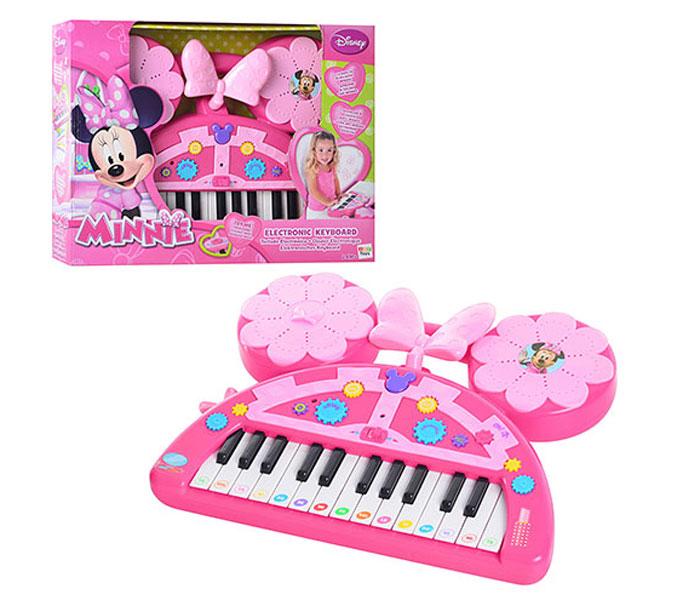 Пианино 180864 Minnie с батарейками, в коробке DISNEY180864Музыкальный талант нужно развивать с детства! Представленное пианино Minnie от знаменитого испанского бренда IMC toys понравится девочкам и позволит им почувствовать себя настоящими звездами, ведь у игрушки есть мелодии и звуковые эффекты. Игрушка выполнена из высококачественных полимерных материалов, предназначена для детей от двух лет. Работает с помощью батареек.