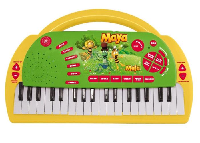 Пианино 200265 на батарейках, в коробке ПЧЕЛКА МАЙЯ200265Пианино ПЧЕЛКА МАЙЯ - непременно понравится и мальчикам и девочкам, и позволит им почувствовать себя настоящими музыкантами. У игрушки есть мелодии и звуковые эффекты, и выполнена из высококачественных полимерных материалов.