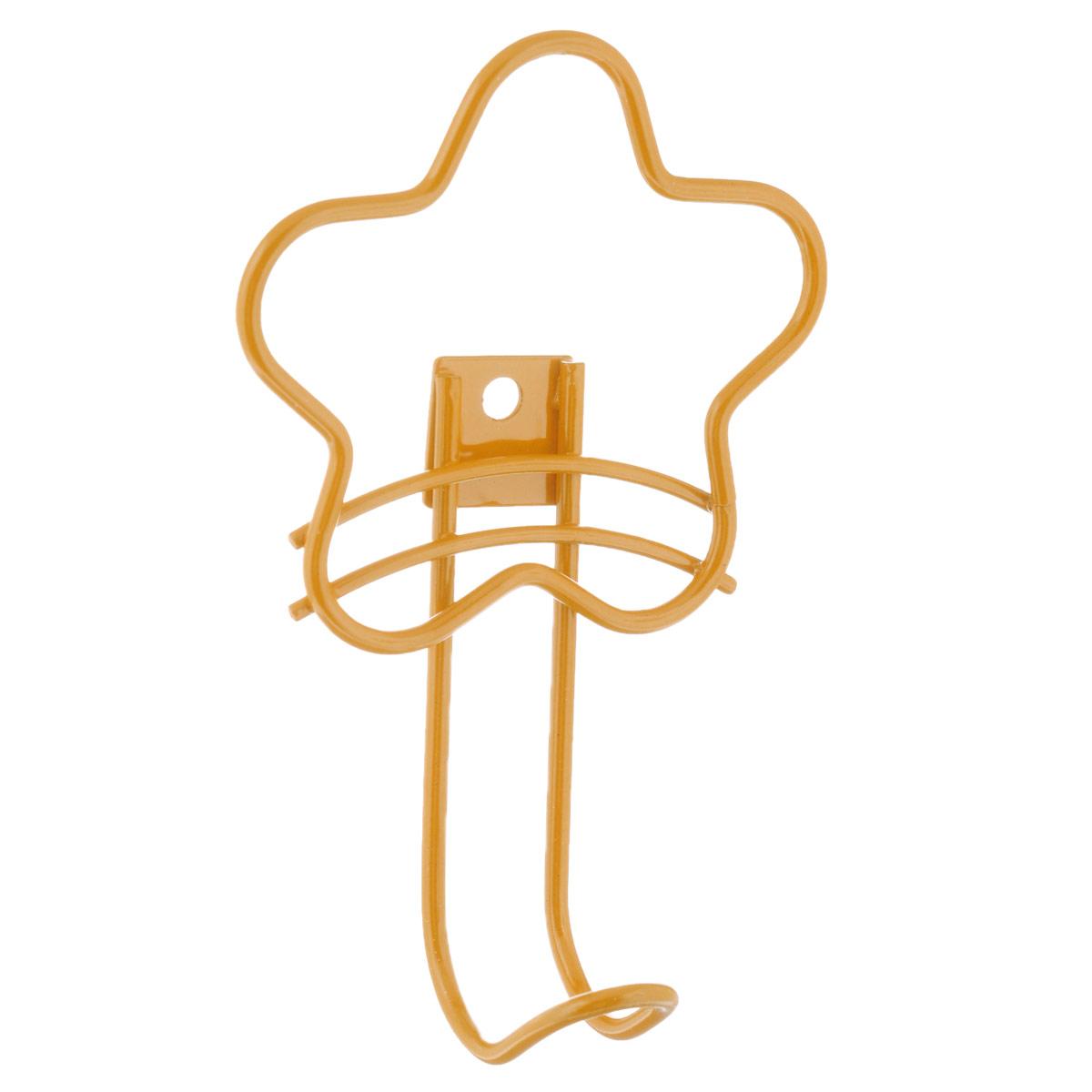 Вешалка настенная Sheffilton Цветок, цвет: желтый, 10,5 см х 5 см х 16 смВ2 - 72Настенная вешалка Sheffilton Цветок является не только функциональным элементом, но и прекрасно украсит интерьер детской комнаты. Каркас вешалки изготовлен из металла с порошковой окраской, стойкой к механическим повреждениям. Вешалка Sheffilton Цветок имеет один крючок, на который малыш сможет самостоятельно повесить одежду, сумочку или игрушку. Крепиться вешалка при помощи одного шурупа (в комплект не входит). Максимальная нагрузка на крючок: 7 кг. Размер вешалки: 10,5 см х 5 см х 16 см.