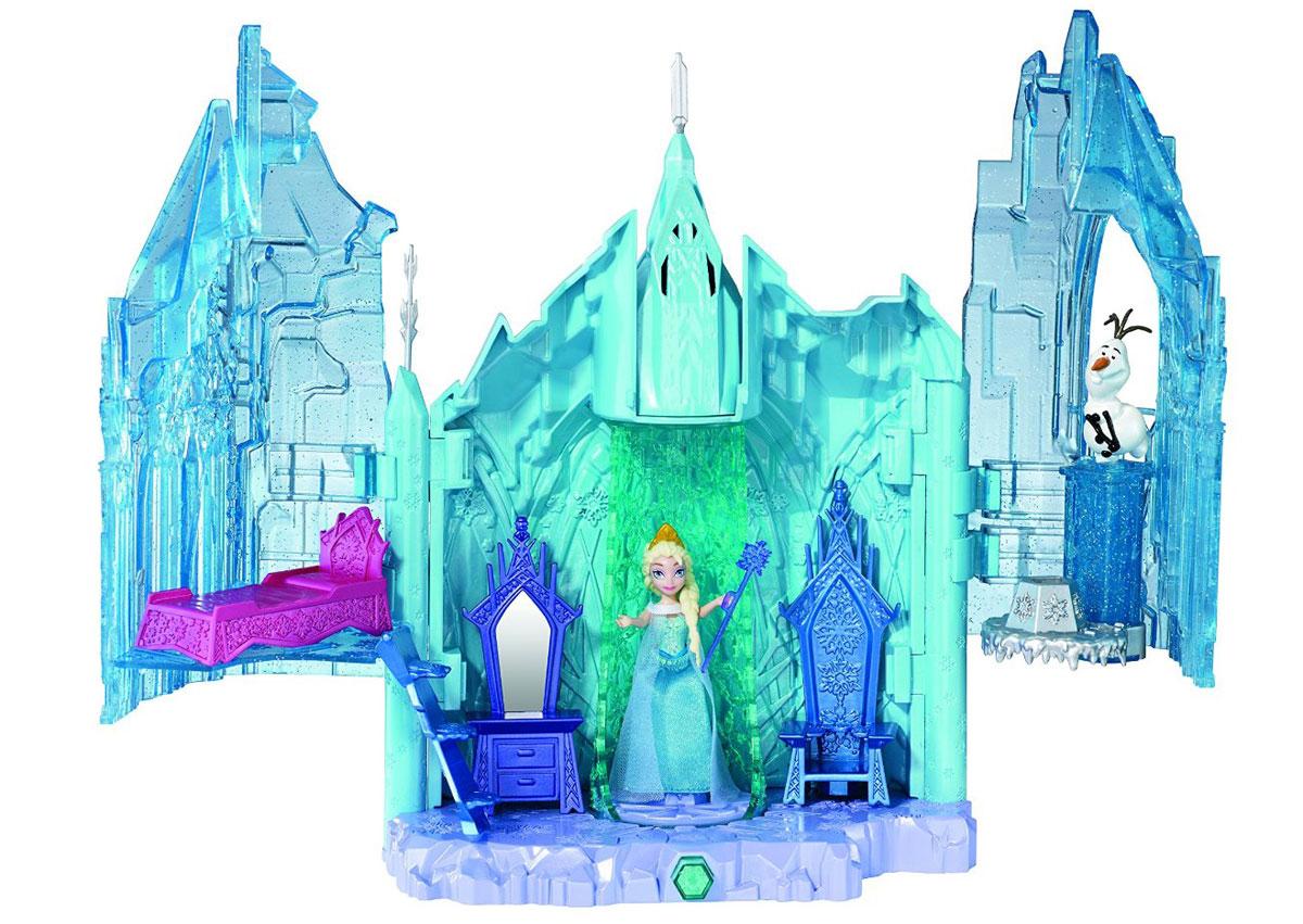 Disney Frozen Игровой набор Magical Lights PalaceBDK38Кукла Disney Frozen Холодное сердце: Эльза с замком и аксессуарами несомненно приведет в восторг любую маленькую поклонницу знаменитого мультфильма Холодное сердце. Волшебный замок Эльзы сияет красотой, яркими огнями и магией! Присоединись к Эльзе и Олафу в это великолепном застывшем замке, который Эльза создала при помощи своей ледяной магии. При нажатии кнопки замок вспыхнет разноцветными огоньками. Также замок оснащен передвижной платформой-лифтом для Эльзы и тронным залом с потайной вращающейся комнатой. При необходимости замок можно сложить - в таком состоянии он очень компактен и почти не занимает места. Эльза - королева Эренделла, от рождения обладающая даром создавать снег и лед, и со стороны она предстаёт сдержанной и замкнутой, хотя внутри у неё бушует настоящая буря эмоций: ей приходится жить в страхе и постоянно подавлять свой волшебный дар. Но однажды она не может справиться со своим магическим даром и погружает Эренделл во власть вечной зимы. Опасаясь, что...