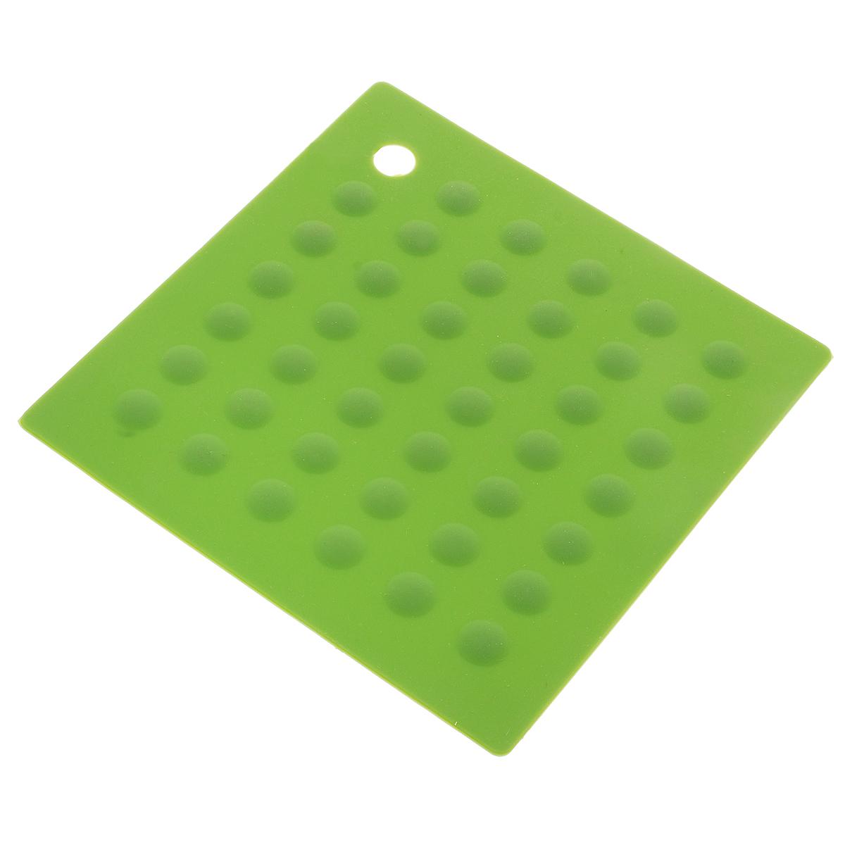 Подставка под горячее LaSella, цвет: зеленый, 17,7 х 17,7 смAYW173_зеленыйПодставка под горячее LaSella изготовлена из чистого силикона. Выдерживает температуру от -50°С до +250°С. Оригинальный дизайн внесет свежесть и новизну в интерьер вашей кухни. Подставка не занимает много места, ее можно хранить в свернутом виде. Подставка под горячее станет незаменимым помощником на кухне.
