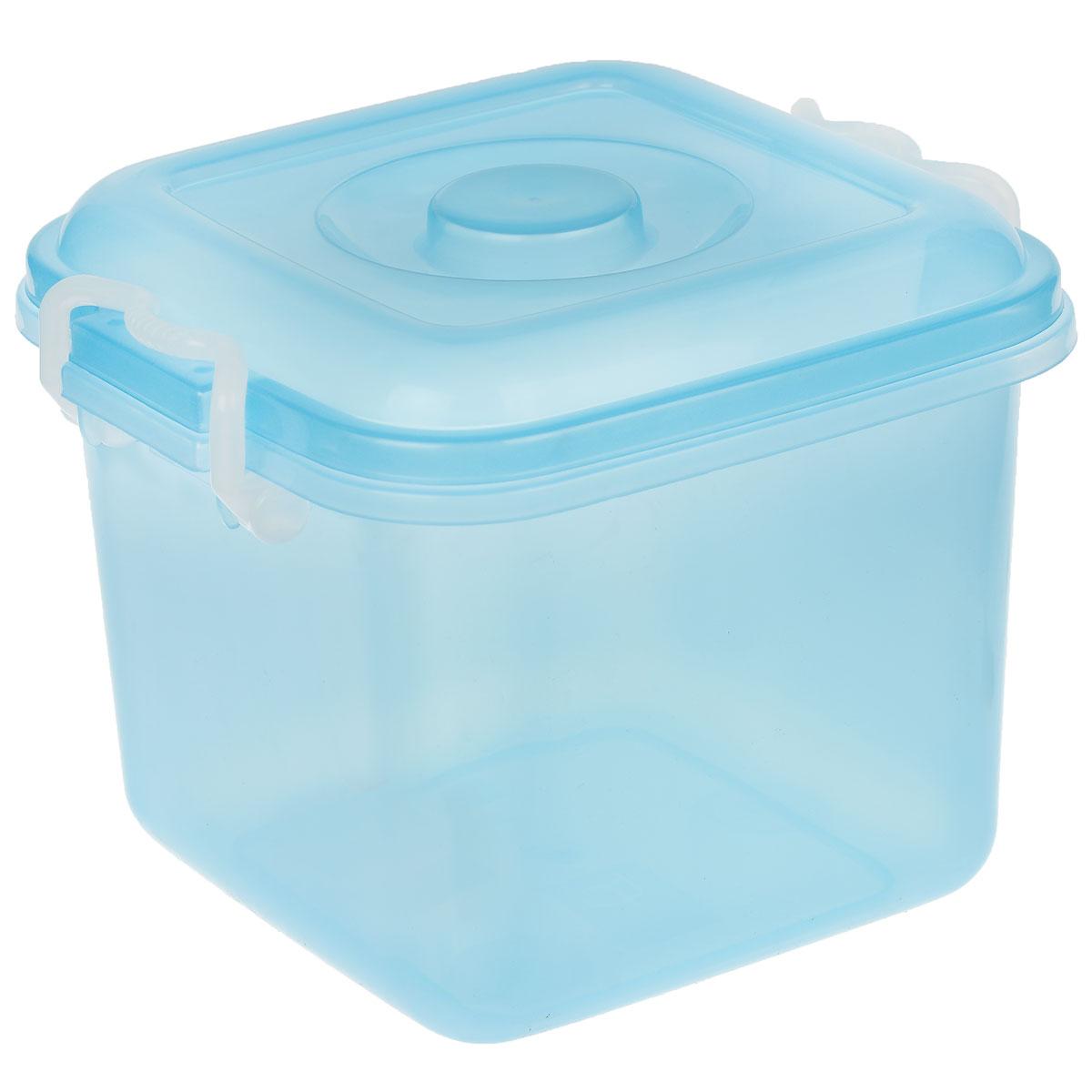 Контейнер для хранения Idea Океаник, цвет: голубой, 8 лМ 2856Контейнер Idea Океаник выполнен из пищевого пластика, предназначен для хранения различных вещей. Контейнер снабжен эргономичной плотно закрывающейся крышкой со специальными боковыми фиксаторами.