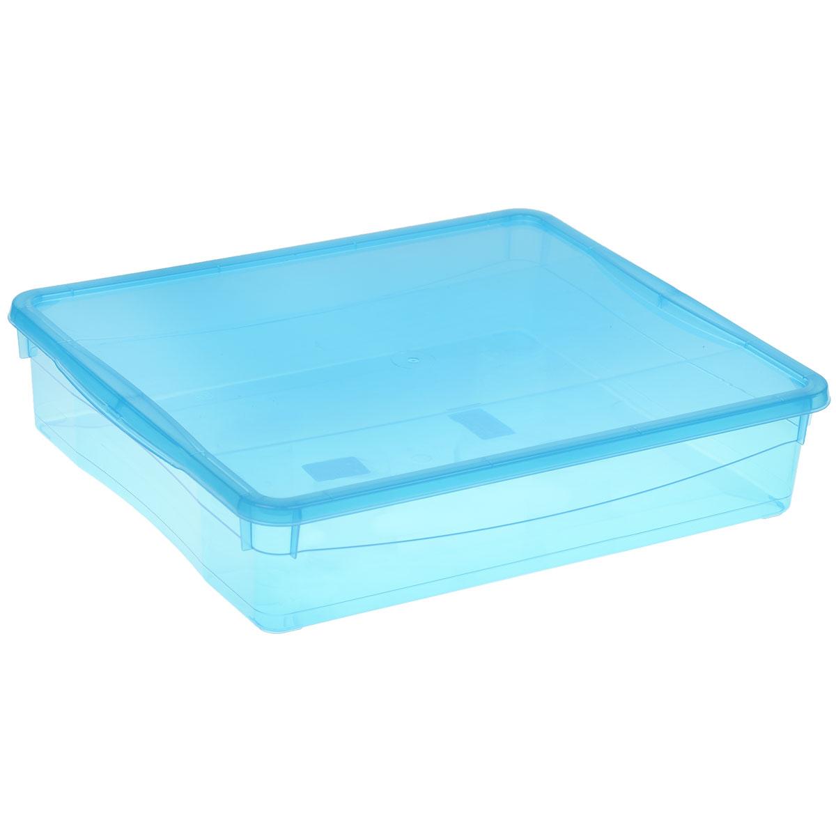 Ящик универсальный Econova Колор стайл с крышкой, цвет: голубой, 9 лС12498Универсальный ящик Econova Колор стайл выполнен из полипропилена и предназначен для хранения различных предметов. Ящик оснащен удобной крышкой. Очень функциональный и вместительный, такой ящик будет очень полезен для хранения вещей или продуктов, а также защитит их от пыли и грязи.