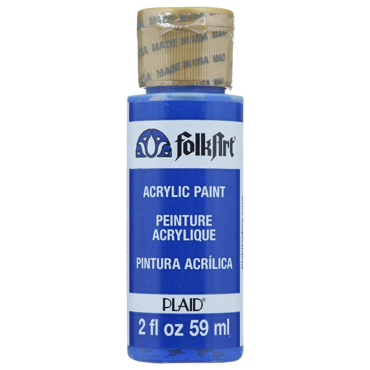 Акриловая краска FolkArt, цвет: синий кобальт, 59 млPLD-00720Акриловая краска FolkArt выполнена на водной основе и предназначена для рисования на пористых поверхностях. Краска устойчива к погодным и ультрафиолетовым воздействиям. Не нуждается в дополнительном покрытии герметиком. После высыхания имеет глянцевый вид. Изделия покрытые краской FolkArt, прекрасно дополнят ваш интерьер. Объем: 59 мл.