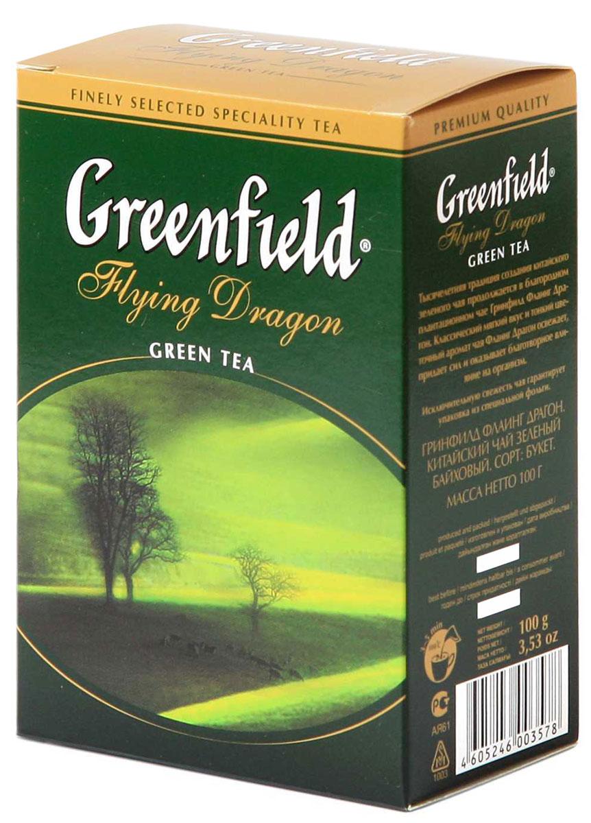 Greenfield Flying Dragon зеленый листовой чай, 100 г0357-16Тысячелетняя традиция создания китайского зеленого чая продолжается в благородном плантационном чае Greenfield Flying Dragon. Классический мягкий вкус и тонкий цветочный аромат чая Greenfield Flying Dragon освежает, придает сил, и оказывает благотворное влияние на организм.
