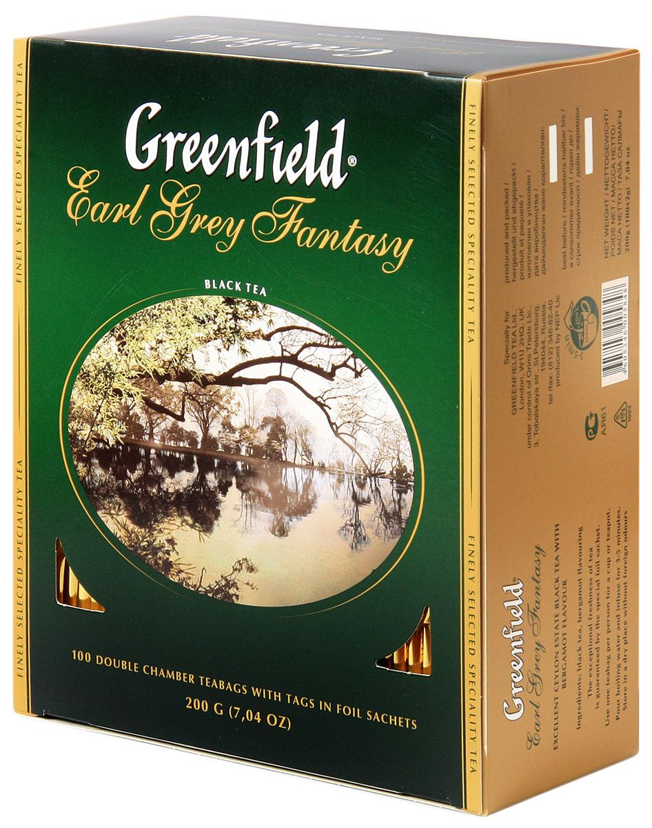 Greenfield Earl Grey Fantasy черный ароматизированный чай в пакетиках, 100 шт0584-09Легкий шлейф цитрусовых ароматов придает особую выразительность изящной композиции Greenfield Earl Grey Fantasy. Освежающий оттенок бергамота акцентирует вкус элитного черного чая в изысканном букете Greenfield Earl Grey Fantasy. Он идеально подходит для послеполуденного и вечернего чаепития.