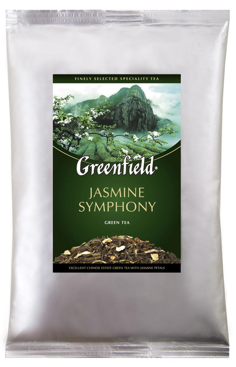 Greenfield Jasmine Symphony зеленый листовой чай, 250 г0979-15Традиции изготовления жасминового чая, отшлифованные в течение столетий, воплощаются в утонченной гамме Greenfield Jasmine Symphony. Чайные листья, выращенные на знаменитых плантациях Гуанси, выдерживают с лепестками жасмина, чтобы они вобрали всю полноту нежного цветочного аромата и открыли изысканные вкусовые оттенки в композиции Greenfield Jasmine Symphony.