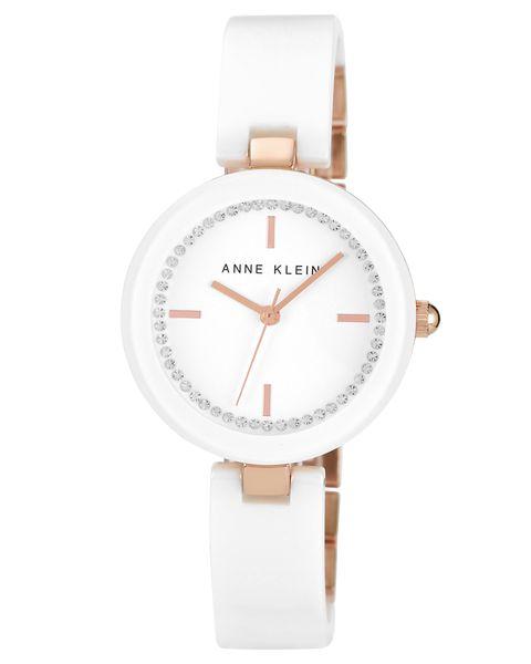 Часы наручные женские Anne Klein 1314RGWT, цвет: белый, золотистый1314RGWTМеханизм: кварцевый, корпус: металл, PVD покрытие, 31х31мм, циферблат: белый, кристаллы Swarovski, стекло: минеральное, водозащита: 2 АТM, браслет: керамика