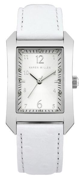 Часы наручные женские Karen Millen, цвет: стальной, белый. KM104B