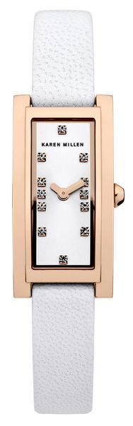 Часы наручные женские Karen Millen, цвет: золотистый, белый. KM120WRG