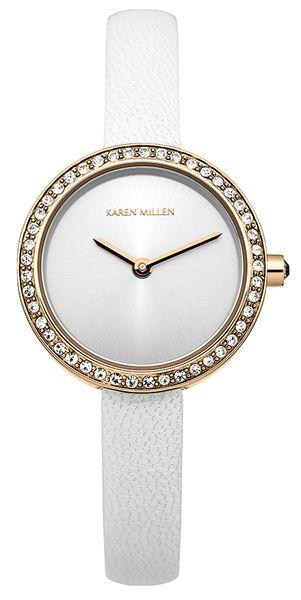 Часы наручные женские Karen Millen, цвет: золотистый, белый. KM146WRG