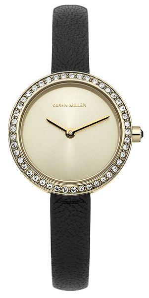 Часы наручные женские Karen Millen, цвет: золотистый, черный. KM146BG