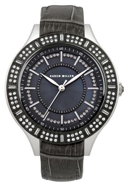 Часы наручные женские Karen Millen, цвет: стальной, серый. KM102BBXKM102BBXЭлегантные женские часы Karen Millen выполнены из нержавеющей стали, натуральной кожи с тиснением под рептилию и минерального стекла. Циферблат часов дополнен стразами Swarovski, вставкой из перламутра и символикой бренда. Корпус часов оснащен кварцевым механизмом, имеет степень влагозащиты равную 5 atm, а также дополнен устойчивым к царапинам минеральным стеклом. Ремешок часов оснащен застежкой-клипсой, которая позволит с легкостью снимать и надевать изделие. Часы поставляются в фирменной упаковке. Часы Karen Millen подчеркнут изящность женской руки и отменное чувство стиля у их обладательницы.