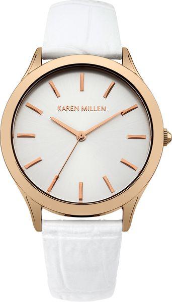 Часы наручные женские Karen Millen, цвет: золотистый, белый. KM106WRG