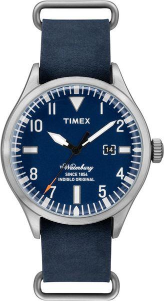 Часы наручные мужские Timex, цвет: серебристый, синий. TW2P64500TW2P64500Стильные мужские наручные часы Timex со стальным корпусом идеально подойдут для человека, ценящего качественные и практичные вещи. Циферблат изделия оформлен арабскими цифрами, отметками, часовой, минутной и секундной стрелками, и дополнен логотипом Timex. Часы оснащены кварцевым механизмом, устойчивым к царапинам минеральным стеклом, подсветкой циферблата Indiglo и подсветкой стрелок. Модель обладает степенью влагозащиты 5 atm. Изделие дополнено ремешком из натуральной кожи, позволяющим максимально комфортно и быстро снимать и одевать часы при помощи пряжки. Часы поставляются на специальной подушечке в стильной коробке с логотипом Timex. Часы Timex подчеркнут мужской характер и отменное чувство стиля их обладателя.