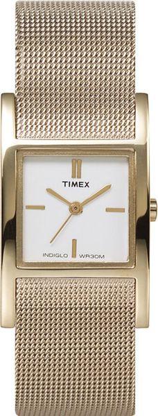 Часы наручные женские Timex T2J921, цвет: золотойT2J921Мехнизм кварцевый, корпус: сталь, 23 мм, стекло акриловое, браслет: сталь, доп. функции: подсветка INDIGLO, водозащита: 2 АТМ
