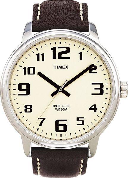 Часы наручные мужские Timex, цвет: белый, коричневый. T28201T28201Стильные мужские часы Timex WATCHES выполнены из нержавеющей стали, минерального стекла. Циферблат изделия дополнен символикой бренда. Часы оснащены кварцевым механизмом с тремя стрелками, полированным корпусом, устойчивым к царапинам минеральным стеклом, степенью влагозащиты 5atm, подсветкой циферблата indiglo. Изделие дополнено ремешком из натуральной кожи, позволяющим максимально комфортно и быстро снимать и одевать часы при помощи пряжки. Часы поставляются в фирменной упаковке. Часы Timex WATCHES подчеркнут мужской характер и отменное чувство стиля их обладателя.