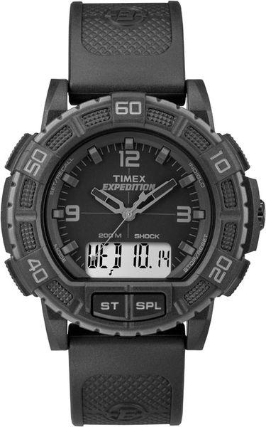 Часы наручные мужские Timex, цвет: черный. TW4B00800TW4B00800Стильные мужские часы Timex, выполнены из нержавеющей стали, каучука и минерального стекла. Циферблат часов дополнен символикой бренда. Часы оснащены электронно-механическим механизмом, имеют степень влагозащиты равную 20 atm, а также дополнены устойчивым к царапинам минеральным стеклом, будильником, таймером, хронографом, секундомером, вторым часовым поясом. Циферблат оснащен электролюминесцентной подсветкой INDIGLO. Ремешок часов оснащен классической пряжкой, которая позволит с легкостью снимать и надевать изделие. Часы поставляются в фирменной упаковке. Многофункциональные часы Timex подчеркнут отменное чувство стиля своего обладателя.