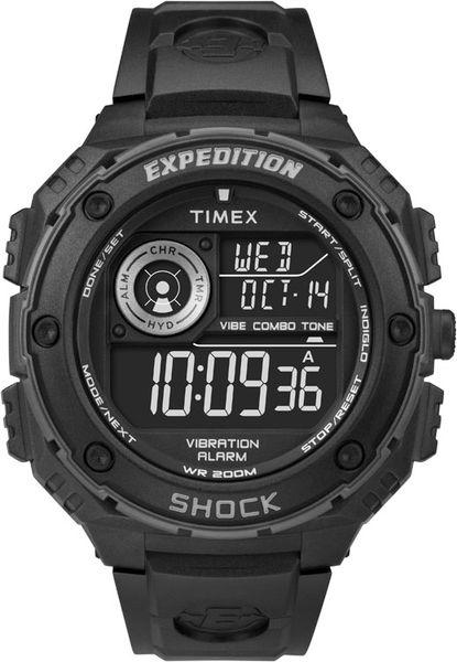 Часы наручные мужские Timex T49983, цвет: черныйT49983Мехнизм кварцевый, корпус: пластик, 50 мм, стекло минеральное, ремешок: силикон, доп. функции: подсветка INDIGLO, будильник,100 часовой хронограф, дата, водозащита: 20 АТМ