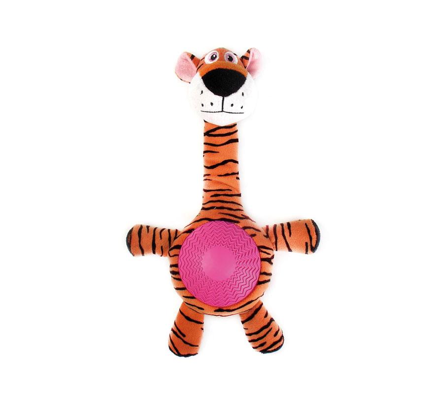 Игрушка для собак Aveva Тигр, с пищалкой13404Игрушка для собак Aveva, выполненная в виде забавного Тигра с пищалкой, изготовлена из резины с добавлением полиэстера. Такая игрушка позволит весело провести время вашему питомцу, а также поможет вам сохранить в целости личные вещи и предметы интерьера. Яркая игрушка привлечет внимание вашего любимца, не навредит здоровью, и займет его на долгое время. Высота игрушки: 21 см. Товар сертифицирован.