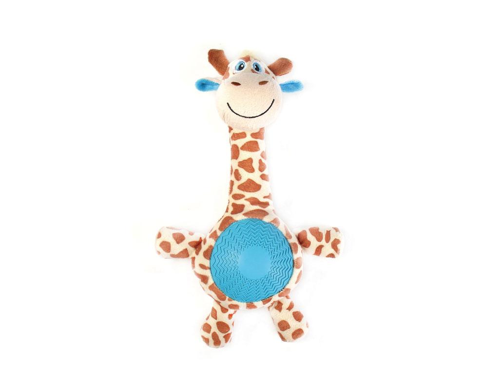 Игрушка для собак Aveva Жираф, с пищалкой13405Игрушка для собак Aveva, выполненная в виде забавного Жирафа с пищалкой, изготовлена из резины с добавлением полиэстера. Такая игрушка позволит весело провести время вашему питомцу, а также поможет вам сохранить в целости личные вещи и предметы интерьера. Яркая игрушка привлечет внимание вашего любимца, не навредит здоровью, и займет его на долгое время. Высота игрушки: 21 см.
