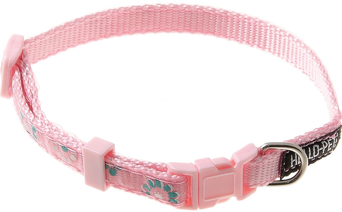 Ошейник для собак Hello Pet Лотосы, цвет: розовый, 10 мм, 23-35 см70-2813Ошейник для собак Hello Pet Лотосы изготовлен из прочных материалов и легко регулируется. Оснащен пластиковой застежкой (фастекс), которая обеспечивает безопасность вашего питомца - в случае резкого рывка ошейник не раскроется.
