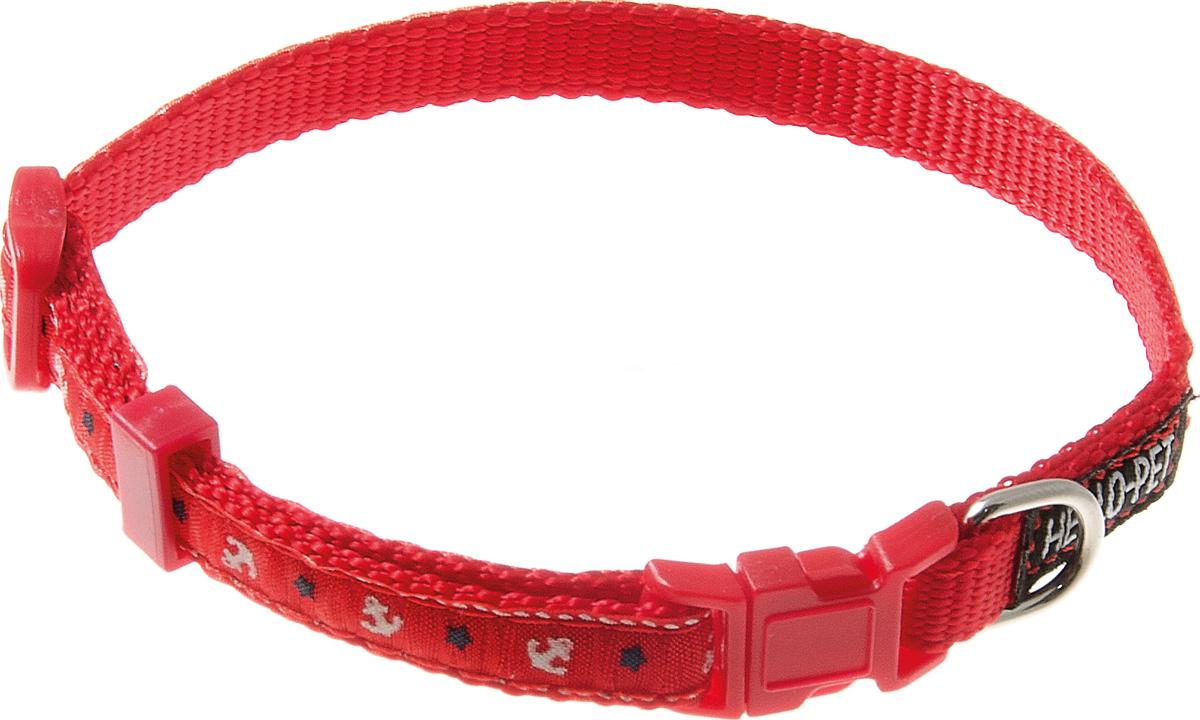 Ошейник для собак Hello Pet Морской, цвет: красный, 10 мм, 23-35 см70-2816Ошейник для собак Hello Pet Морской изготовлен из прочных материалов и легко регулируется. Оснащен пластиковой застежкой (фастекс), которая обеспечивает безопасность вашего питомца - в случае резкого рывка ошейник не раскроется.