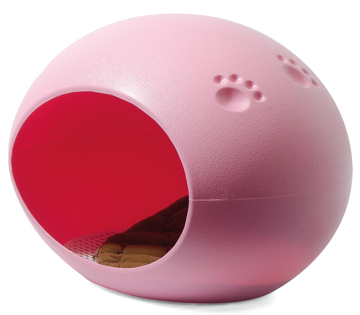 Домик-лежанка V.I.Pet, овальный, цвет: розовый, 60 см х 40 см х 40 смBP228Домик-лежанка с непревзойденным дизайном для кошек и мелких собак. Разборный. Очень удобен, вместителен и легко может заменить питомцу домик. В комплект входит мягкая подстилка. Домик гармонично впишется в интерьер помещения, оформленного в стиле хай-тек, техно, модерн, минимализм. Такой стильный домик украсит интерьер, подчеркнет вашу индивидуальность и будет радовать вас и вашего питомца.