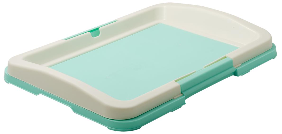 """Туалет для собак V.I.Pet """"Японский стиль"""", цвет: зеленый, молочный, 48 см х 35 см х 6 см"""