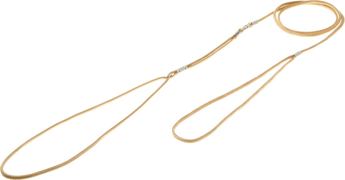 Ринговка круглая V.I.Pet, цвет: золото, 3 мм, 120 смPEW3 GOКруглая ринговка V.I.Pet - это поводок, состоящий из петли с фиксатором и, собственно, поводка. Выполнена из нейлона, фурнитура из высококачественной стали. Ринговка является самым распространенным видом выставочной амуниции. Диаметр: 3 мм. Длина: 120 см.