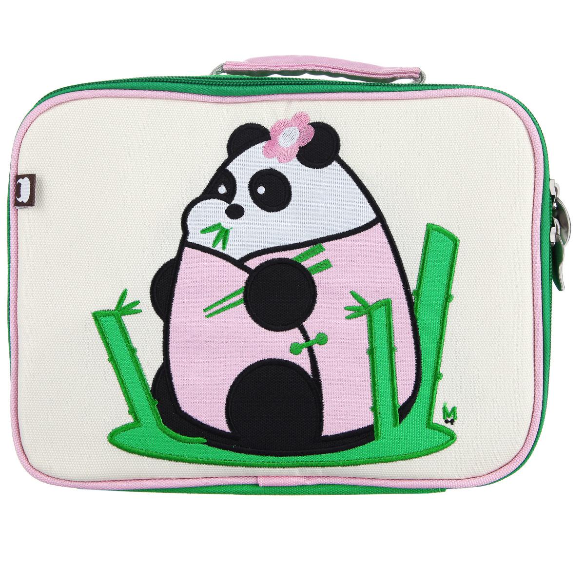 Ланч-Бокс Fei - Fei, цвет: зеленый, розовый, бежевыйLB-6430-04Превосходный ланч-бокс с вышитым принтом отлично сохранит завтрак для вашего ребёнка. Модель закрывается на застежку-молнию. Сумка сделана из прочного нейлона, который не рвется и стирается в стиральной машинке. На внутренней стороне находится карман на застежке-молнии и именной ярлычок. Внутренняя часть сумки покрыта водонепроницаемым покрытием.