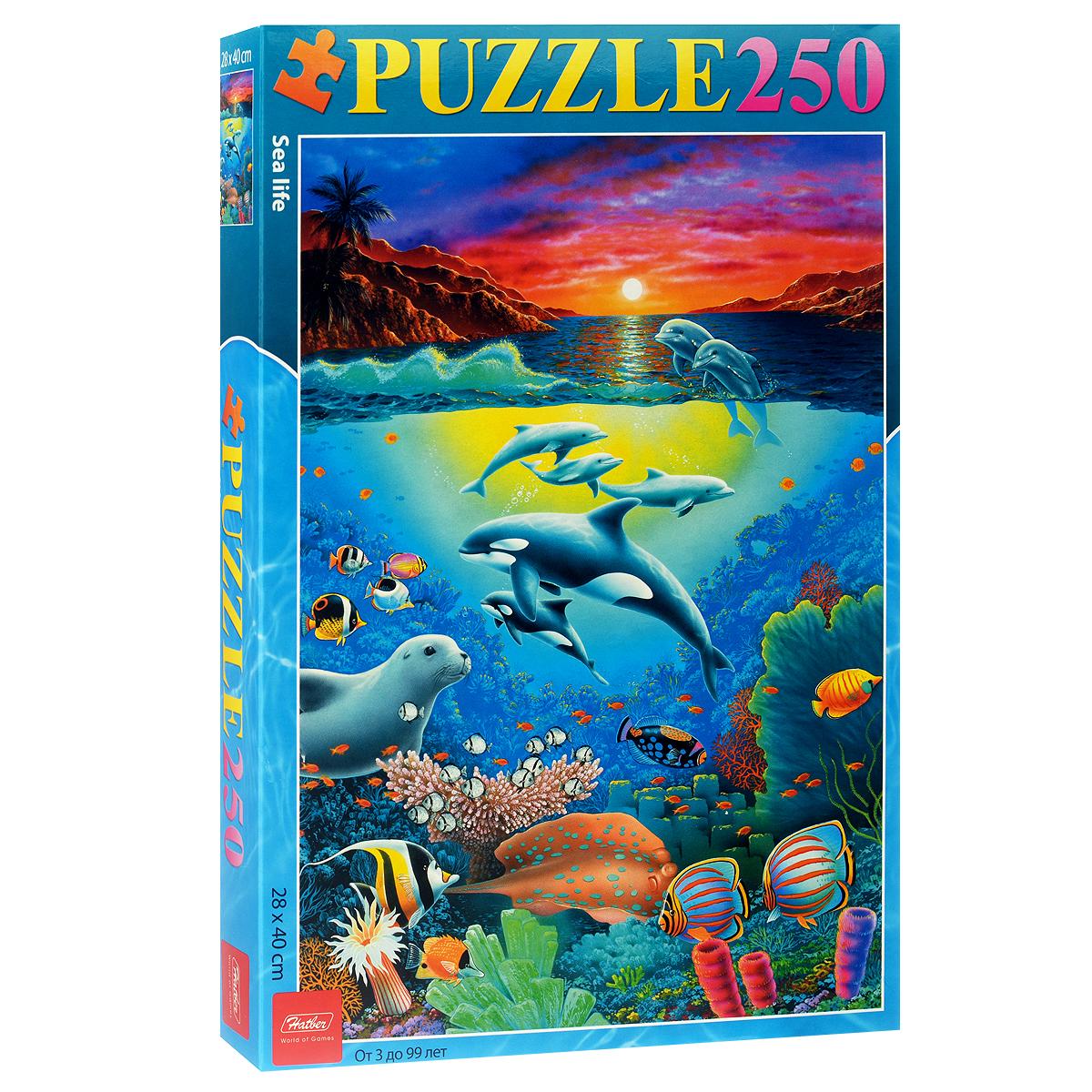 Морской мир. Пазл, 250 элементов250ПЗ3_07942Пазл Морской мир, без сомнения, придется по душе любому. Собрав этот пазл, включающий 250 элементов, вы получите картинку с ярким изображением подводного мира. Пазлы - замечательная игра для всей семьи. Сегодня собирание пазлов стало особенно популярным, главным образом, благодаря своей многообразной тематике, способной удовлетворить самый взыскательный вкус. Собирание пазла развивает у детей мелкую моторику рук, тренирует наблюдательность, логическое и образное мышление, знакомит с окружающим миром, с цветом и разнообразными формами, учит усидчивости и терпению, аккуратности и вниманию. Получившееся эффектное изображение станет отличным украшением вашего интерьера.