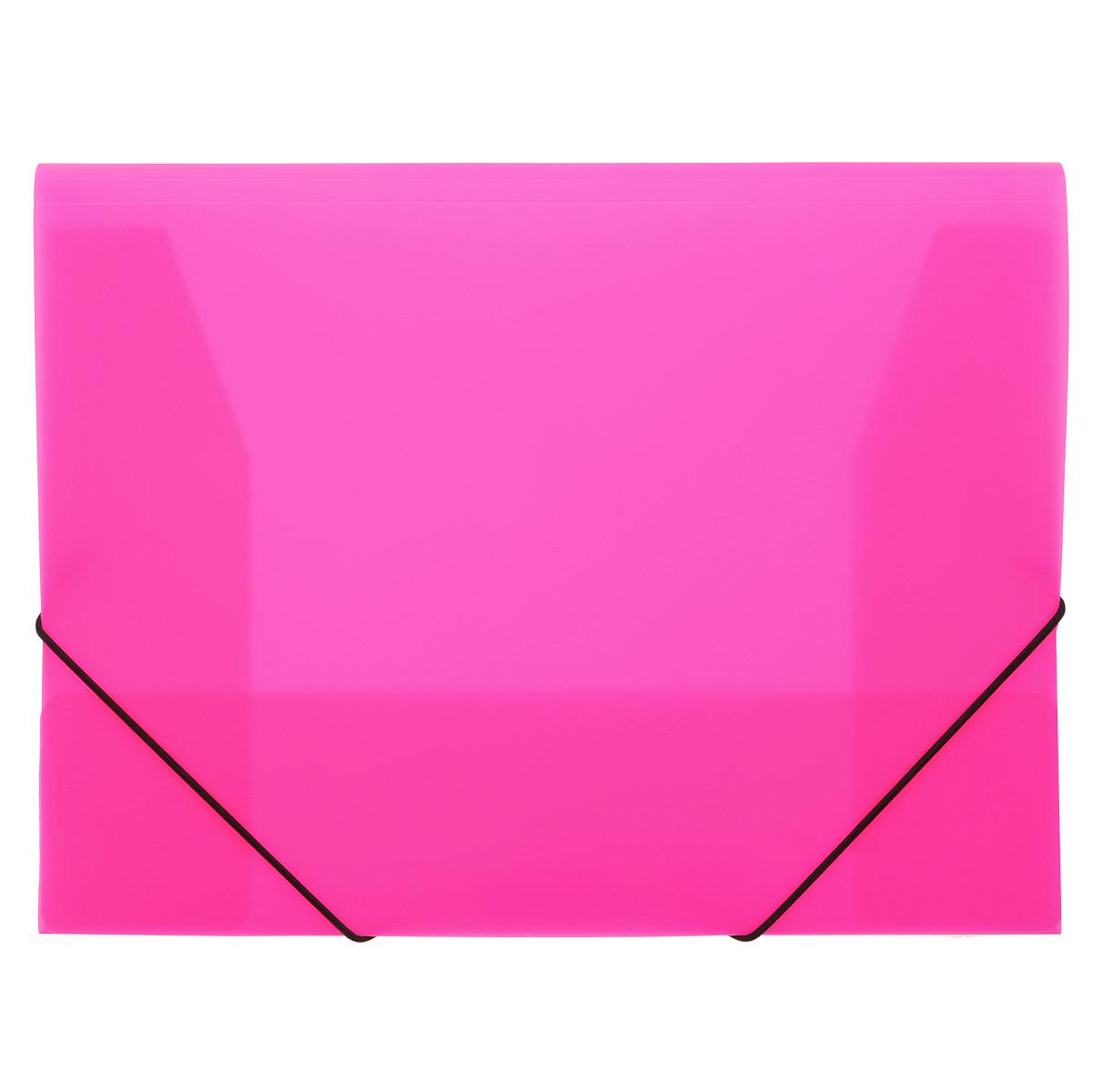 Папка на резинках Erich Krause, цвет: розовый. Формат А431018Практичная папка на резинках Erich Krause пригодится в каждом офисе для хранения документов. Папка выполнена из пластика и надежно закрывается с помощью двух эластичных угловых резинок. Папка с тремя клапанами надежно сохраняет документы от повреждений и пыли. Вмещает большое количество документов Благодаря использованию качественных материалов, безупречных технологий обработки и высокой функциональности, эти стильные изделия выдержат даже самый напряженный рабочий день.